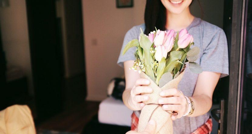 Bukiet dostarczony przez pocztę kwiatową