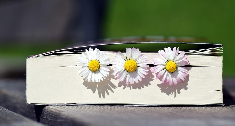 Książka z kwiatami