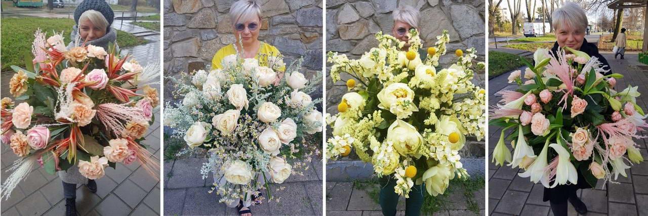Duże bukiety z kwiatami oferta poczty kwiatowej Kwiatem Malowane