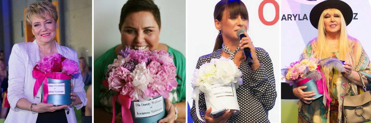 Znane osoby z kwiatami i Flower Boxami Kwiatem Malowane